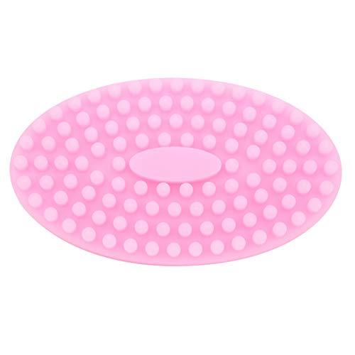 Cepillo de silicona para el cuero cabelludo, cepillo de masaje suave e insípido impermeable, agradable para la piel para bebés adultos(Pink)