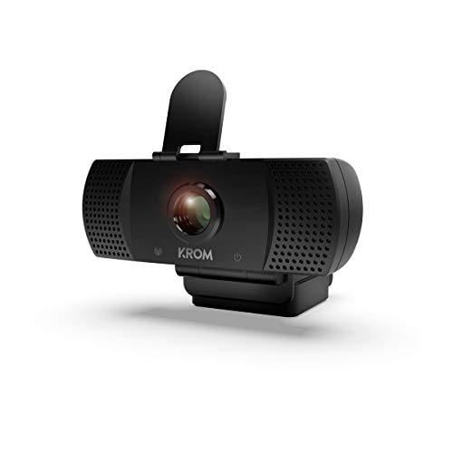 Camara Web Krom Kam -NXKROMKAM- Diseñada para Gaming - Webcam 1080p, 30fps, microfono incorporado, tripode incluido, USB, Negro