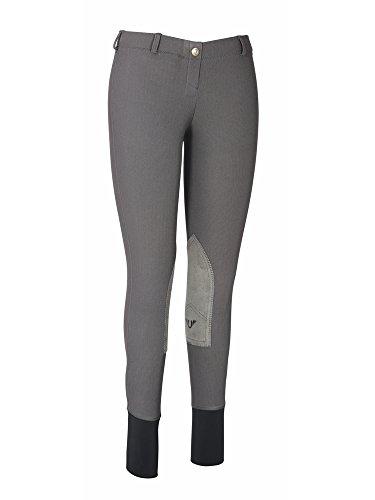 TuffRider Women's Ribb Lowrise Pull-On Breeches, Dark Charcoal, 28