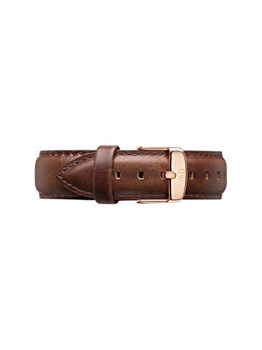 Daniel Wellington Classic Bristol Cinturino Uomo, 20mm, in Pelle, Marrone/Oro Rosato