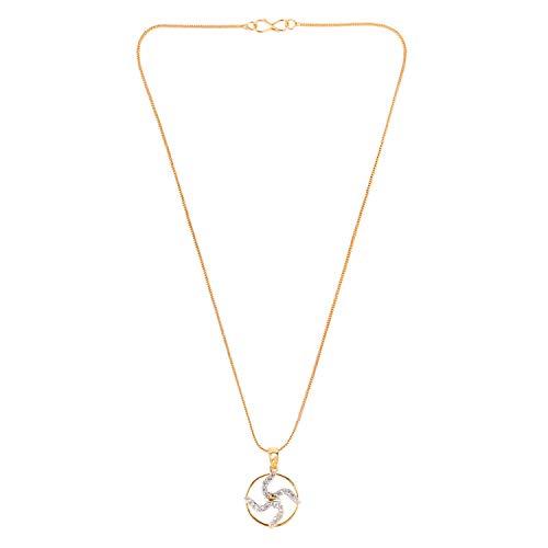 Efulgenz OM AUM Ohm Pendant Chain Necklace India Spiritual Good Luck CZ Jewellery Gift for Men Women