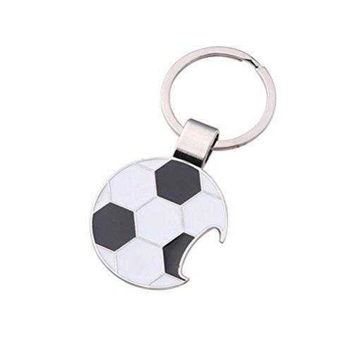 VORCOOL Metall Taschenanhänger Fußball Schlüsselanhänger Schlüsselbund als Flaschenöffner Edelstahl mit Ring für Auto Schlüssel Damen Herren