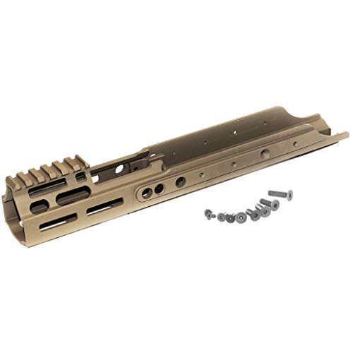 Airsoft Softair Parts Ausrüstung PTS Kinetic MREX M-LOK Handguard Rail Handschutz Schiene für VFC WE Cybergun Tokyo Marui Recoil Shock Scar Dark Earth