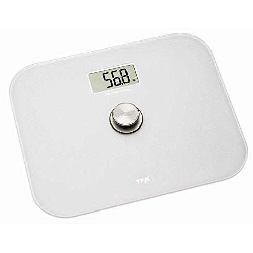 TFA Dostmann Eco Step digitale Personenwaage, 50.1014.02, benötigt keine Batterien, umweltfreundlich, automatische Abschaltfunktion, weiß