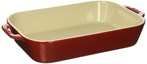 STAUB Ceramics Rectangular Baking Dish, 13x9-inch, Cherry