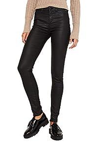 ESPRIT Damen 109Ee1B018 Hose, Schwarz (Black 001), W/L30(Herstellergröße:34/30)