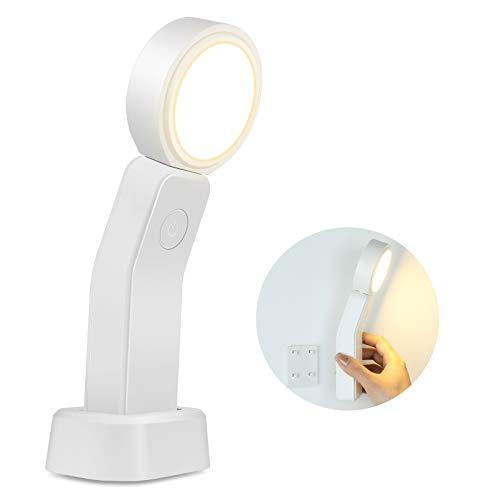 KANINO Led Nachtlicht Kinder, Wiederaufladbares Nachtlicht Kind mit 360 ° Dimmbar Helligkeit, Mini-Schreibtischlampe Touch-Steuerung,Tragbare Beleuchtung für Küche, Schreibtisch, Schrank