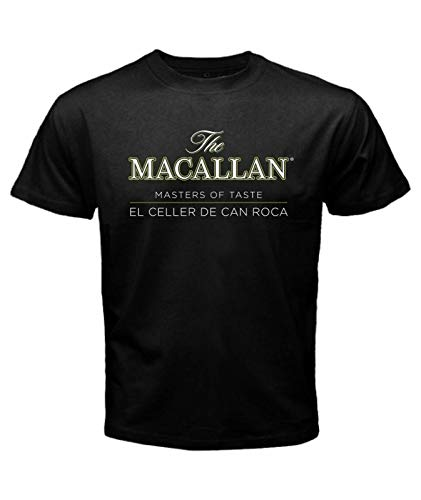 THE MACALLAN SINGLE MALT SCOTCH WHISKY MASTERS OF TASTE BLACK T SHIRT