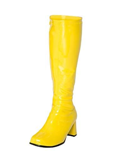Zapatos de Mujer con diseño Retro para Fiestas de Disfraces de Estilo Retro de los años 60 y 70, con Cierre de Cremallera en Colores patentados, Tacones de 2,5 Pulgadas, Talla 3uk – 12uk