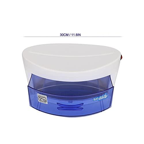 Caja esterilizadora de uñas ligera, herramienta esterilizadora para decoración de uñas, regalo para manicura (estándar europeo de 220 V), color negro