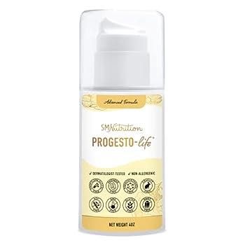 Progesterone Cream  Bioidentical  4oz Pump of 2000mg USP Bio-Identical Progesterone Paraben-Free Soy-Free & Non-GMO May Support PCOS Menopause TTC