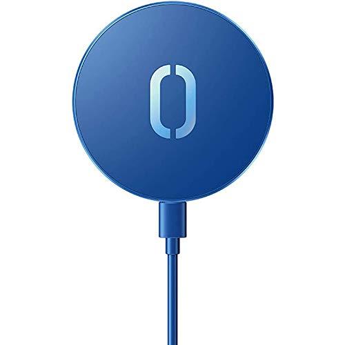 YOYOTECH Cargador inalámbrico magnético para iPhone 12 Pro MAX Mini 15W alinea automáticamente la Carga rápida y la Carga inalámbrica Compatible con MagSafe sin Adaptador de Corriente