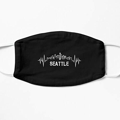 Seattle Skyline Heartbeat Washington Mask