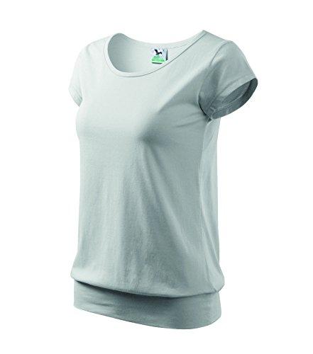 T-Shirt Ladies City Damenshirt 100% Baumwolle - Größe und Farbe wählbar- (L, Weiss)