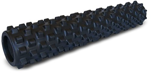 RumbleRoller - Full Size 31 Inches - Black - Extra Firm - Textured Muscle Foam...