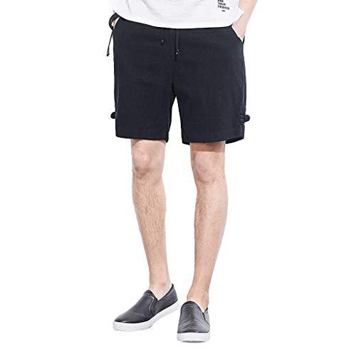 Deelin herenshorts, zomer, alledag, modieus, wild, casual, casual, met trekkoord, van linnen, kleur bermuda shorts