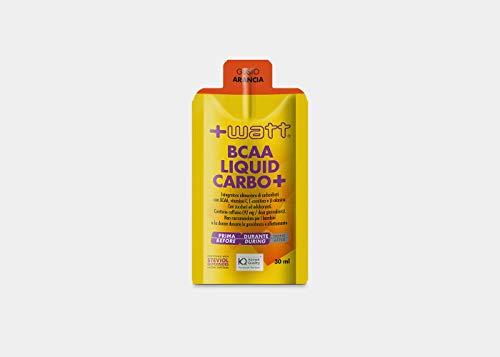 +Watt BCAA Liquid Carbo+, 60 Pezzi Da 30Ml, Gusto Arancia