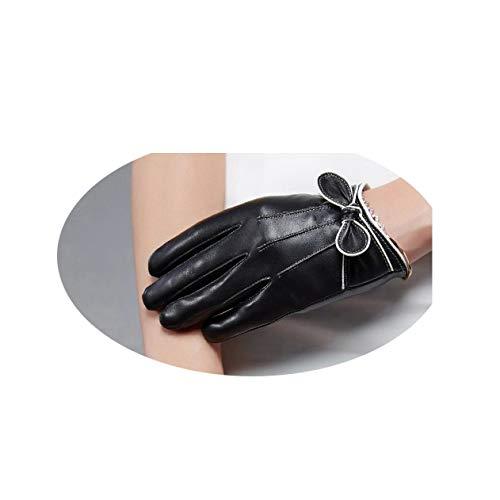 Herbst- Und Winterhandschuhe, Dicke Handschuhe, Wollmund, Unterstützung Für Touchscreen-Funktion, Outdoor-Fahren, Reisen, Fahrhandschuhe,schwarz,XL
