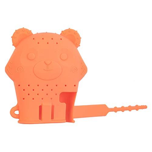 DNNAL Babyhandschuhe Beißring, Baby-Beißstäbchen-Kauspielzeug für Kinder Perfekt für die Entwicklung von Kinderkrankheiten, sensorischen und feinmotorischen Fähigkeiten,Orange