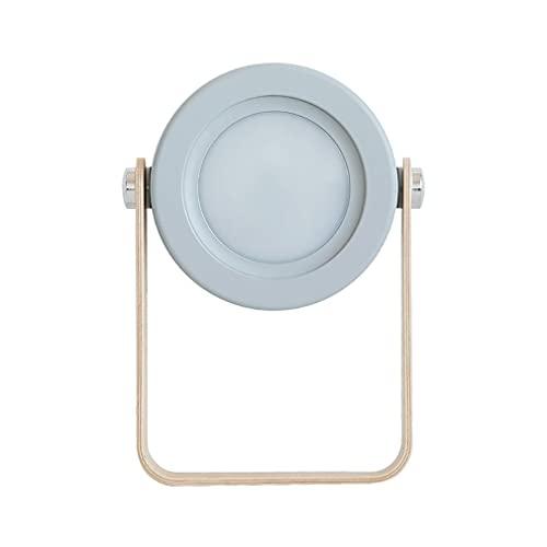 Lámpara de Linterna portátil USB de Lectura Regulable táctil Plegable de luz Nocturna LED gris142 * 37 * 248 mm