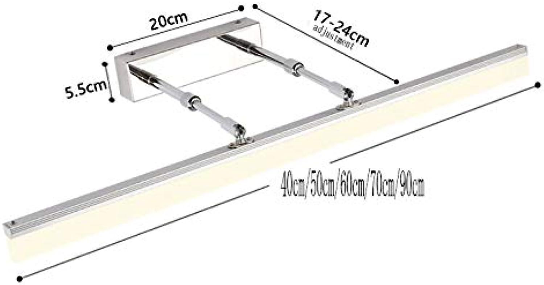 LXFMD Led badezimmer badezimmer nordisch spiegelschrank spezielle licht wasserdichte wandleuchte (Farbe   Silber warm Weiß light-40cm 9w)