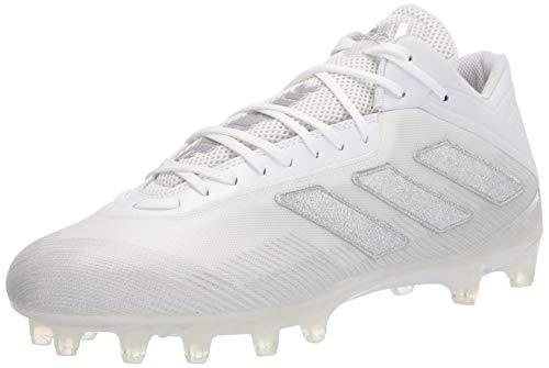 adidas Men s Freak Carbon Football Shoe, White Silver Metallic White, 16