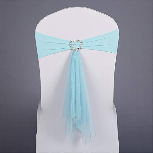 LucaSng - Funda de satén para silla de boda, para eventos y fiestas, Tiffany Azul, 50 unidades