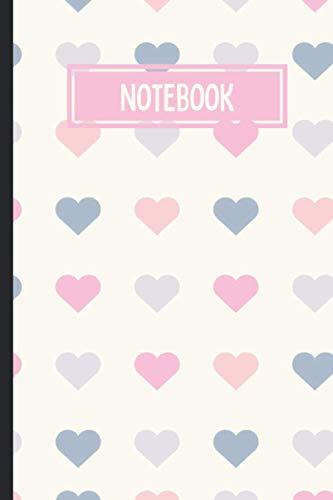 Notebook: Pretty Hearts Notebook With 110 Blank Lined Notebook - Cute Valentine's Day Notebook Gift For Her\Him - VALENTINES DAY GIFT FOR HIM & HER