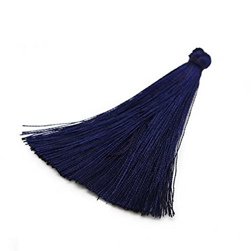Fashion 2/10pcs Handmade 65mm Long Thick Big Tassel Rayon Silk Tassel for DIY Tassel Dress Garment/Home Textile Accessories
