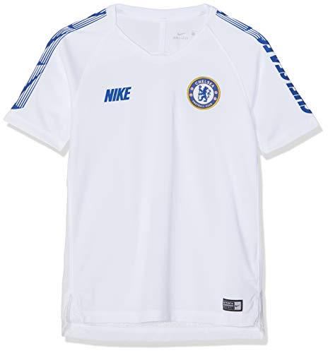 Nike Kinder CFC Y NK BRT SQD SS T-Shirt, White/Rush Blue, XS