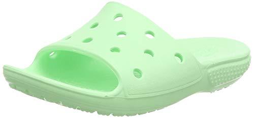 Crocs Classic Slide Kids, Sandali a Punta Aperta Unisex-Bambini, Verde (Neo Mint 3ti), 30 EU