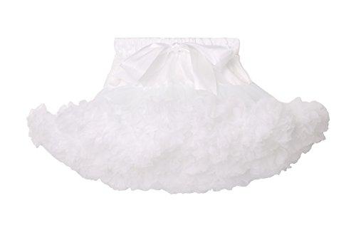 Elfin-Lore Nias Falda Tut Princesa de Tul 2-4 Aos Ballet Danza Enaguas Carnaval Boda Disfraces Blanco - S