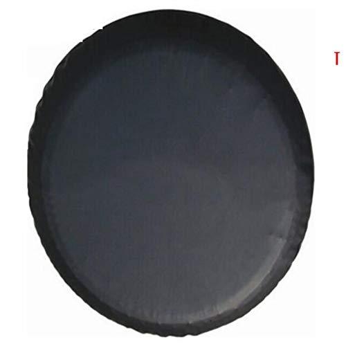 Funda Rueda Repuesto 1pcs puro Negro 13 '', 14', 15', 16', 17' 18''inch PU PVC neumático de repuesto de válvula del neumático de la rueda de la cubierta for los coches Ruedas Accesorios Funda Rueda