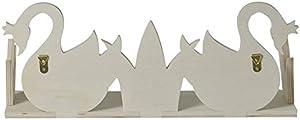 Artemio Ripiano in Legno 2 cigni per Personalizzare 40 x 16 cm