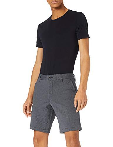 BOSS Herren Schino-Slim-Shorts R Filigran gemusterte Slim-Fit Shorts aus Stretch-Gewebe