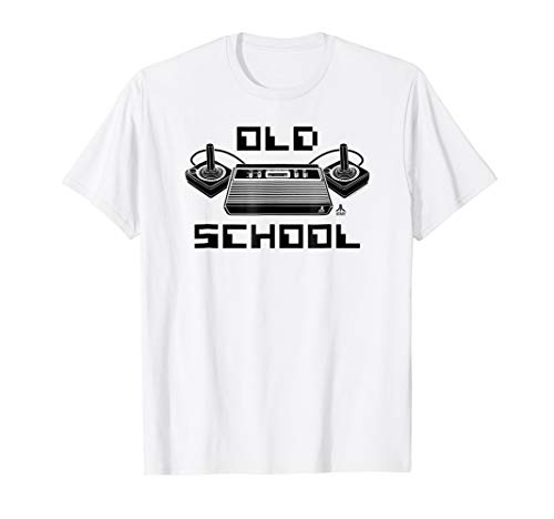 Atari 2600 Old School Pixel Font T-shirt for Men or Women, 5 Colors, S to 3XL