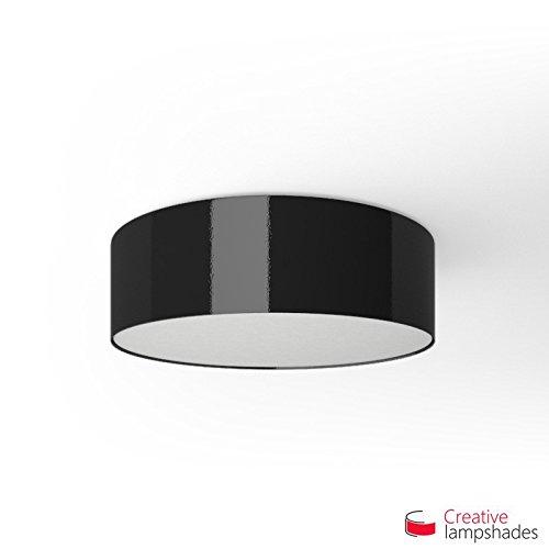 Creatieve lampenkappen Ronde plafondlamp met zwarte Lumiere bekleding Diameter 50cm - H. 15cm