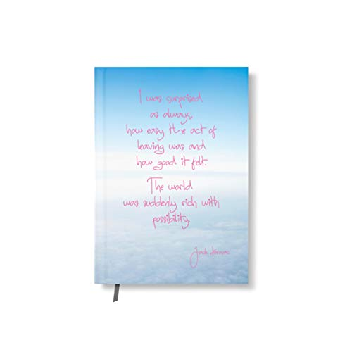 42thinx Notizbuch Zitat Jack Kerouac Auf Himmel Mit Wolken DIN A5 liniert I Notizblock mit Hardcover 128 Seiten mit Designcover I Hochwertiges Journal mit Lesezeichen I Notizblock gebunden Motiv