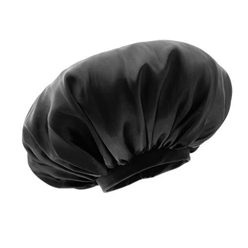 dailymall Bonnet de Nuit pour Tenir Les Cheveux Naturels/Tresses/Tissages/Rouleaux - Noir