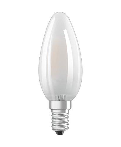 Osram Ampoule LED à Filament Dépolie   Culot E14   Forme Flamme   Dimmable   Blanc Chaud 2700K   2,5W (équivalent 25W)