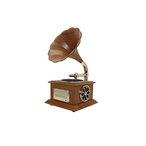 DUTUI Retro Mini Record Player, Vinyl Record Player, Bluetooth Audio Connection, Multifunctional Phonograph, Detachable Speaker,Brass