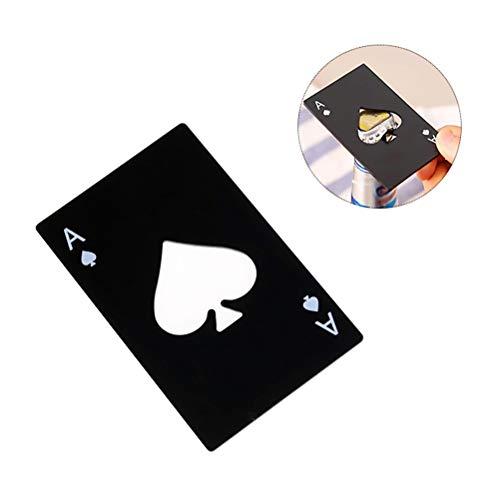 Schimer Smart roestvrij stalen Poker Card Ace of Spades draaisluitingopener flesopener flessenopener van roestvrij staal in pokerkaartdesign soda bier elegant cadeau
