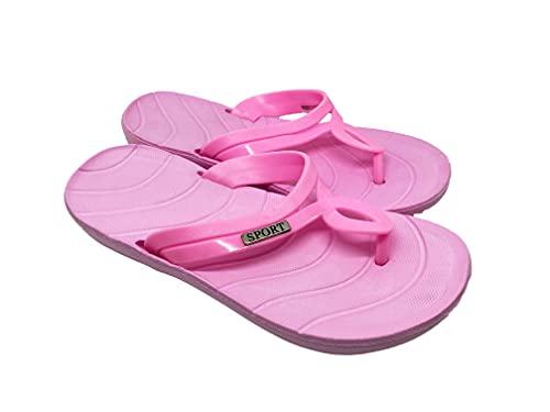 Ducomi Infradito in Gomma EVA Donna Ciabatte Donne Scarpe da Spiaggia Pantofole Estive da Bagno, Leggero Morbido per Adulto Scarpa Estiva (Pink, 36)