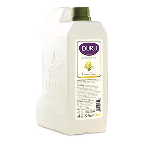 Duru Petit bidon d'eau parfumée turque (kolonya) au citron, 1 l