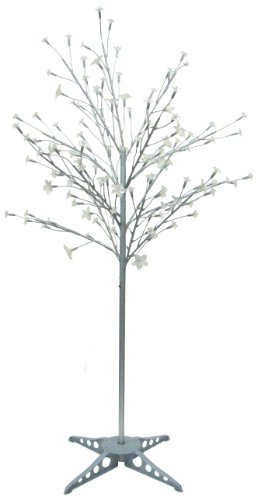 Exhart Silver LED Tree with 90 Color Changing LEDs, No Leaves