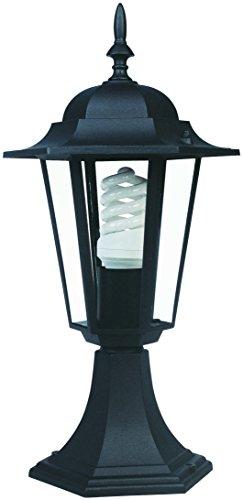 Lámpara de sobremuro para exterior Astrid 7hSevenOn Outdoor 09188, 60W, IP44, E27. Color negro. [Clase de eficiencia energética A]