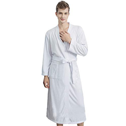 Jixin4you Albornoz de algodón para mujer, ideal para gimnasio, ducha, spa, hotel, vacaciones, etc