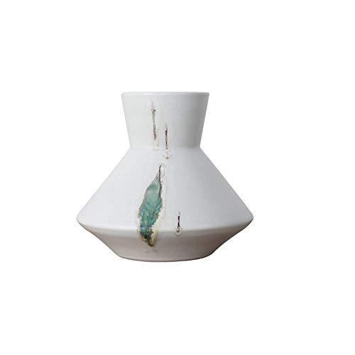 household items Florero de Vidrio, florero Transparente de Cristal Transparente para decoración de Plantas, Adecuado para la decoración de la Mesa de la Oficina en casa, Blanco