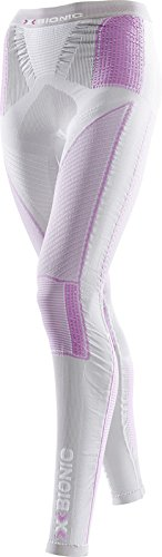 X-Bionic Collant imperméable pour Adulte Lady UW Evo Pantalon pour Femme Long Multicolore Silver/Fuchsia L/XL