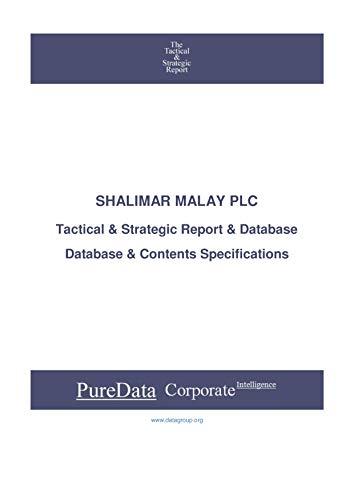 SHALIMAR MALAY PLC: Tactical & Strategic Database Specifications - Sri-Lanka perspectives (Tactical & Strategic - Sri Lanka Book 38617) (English Edition)